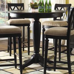 Round bistro-style table